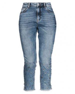 Джинсовые брюки-капри RELISH. Цвет: синий