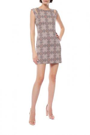 Платье Comma. Цвет: бежевый, цветы