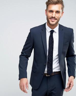 Темно-синий узкий пиджак New Look. Цвет: синий