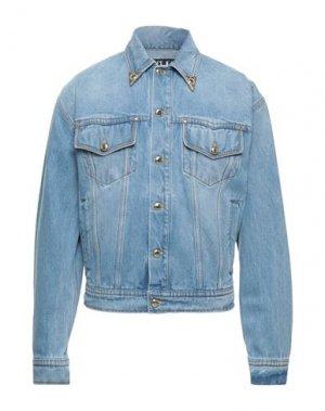 Джинсовая верхняя одежда VERSACE JEANS COUTURE. Цвет: синий