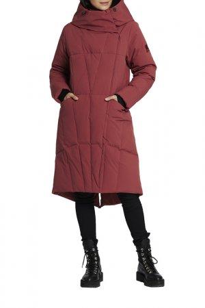 Пальто D`imma. Цвет: кирпичный