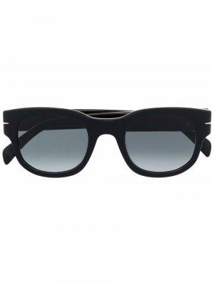 Солнцезащитные очки в трапециевидной оправе Eyewear by David Beckham. Цвет: черный