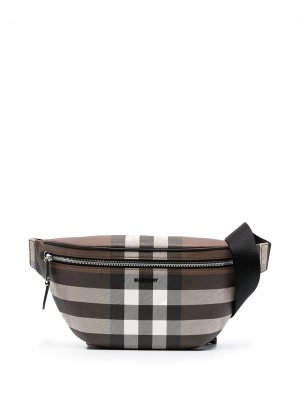 Check-pattern belt bag Burberry. Цвет: коричневый