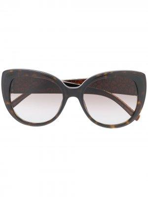 Солнцезащитные очки в оправе кошачий глаз Elie Saab. Цвет: нейтральные цвета