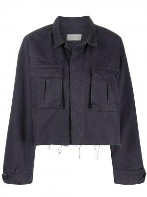 Укороченная куртка Camden BOYISH DENIM. Цвет: синий