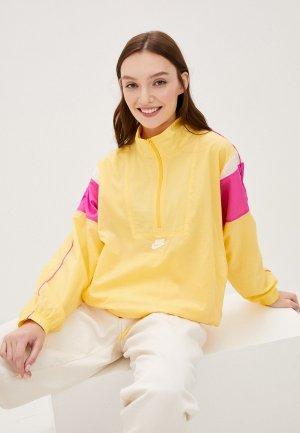 Ветровка Nike W NSW HRTG JKT WVN. Цвет: желтый