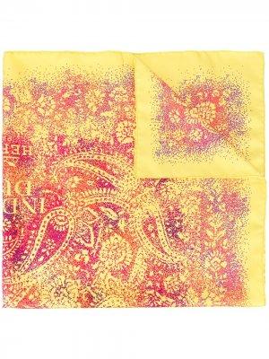 Платок Indian pre-owned Hermès. Цвет: желтый