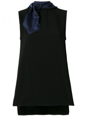 Tie neck top Marni. Цвет: чёрный