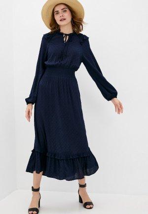 Платье Marks & Spencer. Цвет: синий