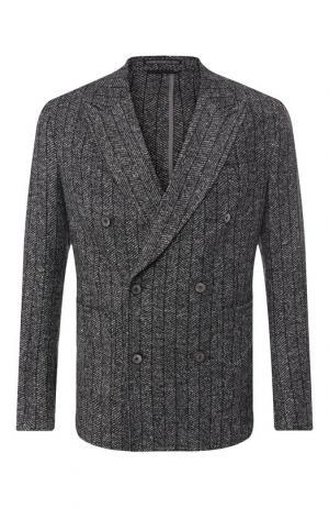 Двубортный пиджак Drykorn. Цвет: темно-серый