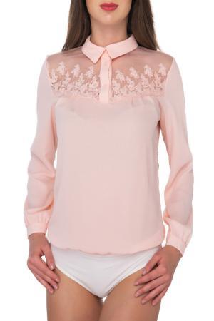 Блуза-боди Arefeva. Цвет: бежевый,розовый,слоновая кость