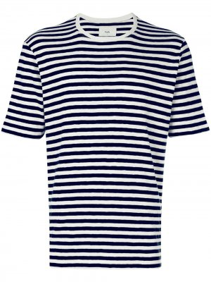 Классическая футболка в полоску Folk. Цвет: синий