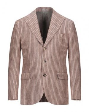 Пиджак BRUNELLO CUCINELLI. Цвет: желто-коричневый