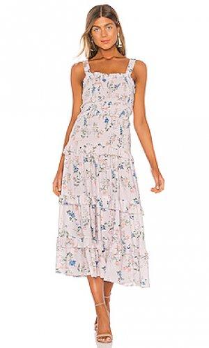 Платье миди althea SAYLOR. Цвет: румянец