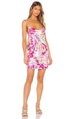 Мини платье lynn FLYNN SKYE. Цвет: розовый