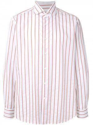 Double-Sided Striped shirt Corneliani. Цвет: белый