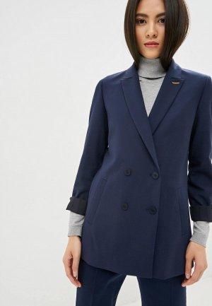 Пиджак Hugo Akata. Цвет: синий