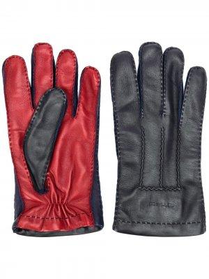 Двухцветные перчатки Etro. Цвет: черный