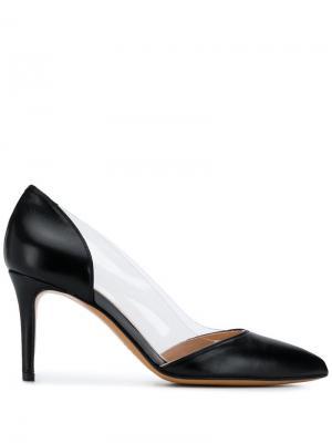Прозрачные туфли-лодочки Albano. Цвет: черный