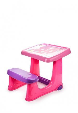 Набор игровой Dolu Парта со скамейкой. Цвет: розовый