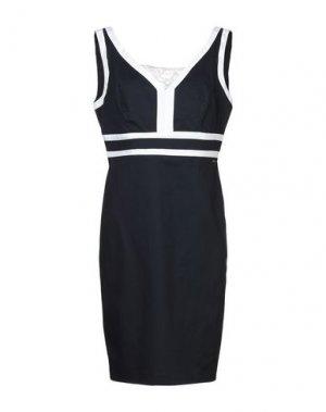 Платье до колена CANNELLA. Цвет: темно-синий
