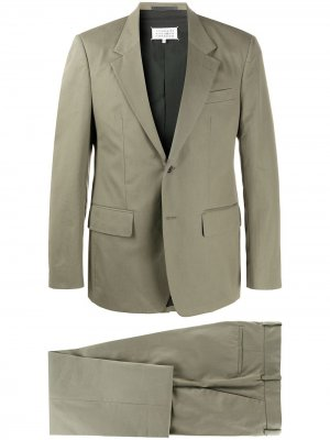 Костюм-двойка с однобортным пиджаком Maison Margiela. Цвет: зеленый