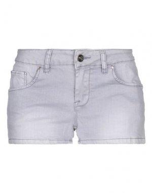 Джинсовые шорты GAUDÌ. Цвет: серый