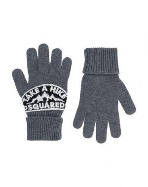 Перчатки DSQUARED2. Цвет: серый