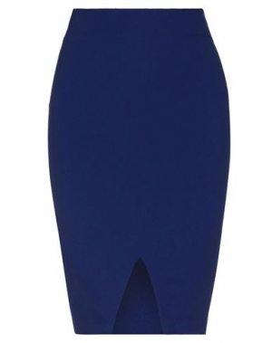 Юбка до колена FRANCESCA PICCINI. Цвет: ярко-синий