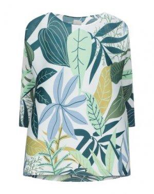 Блузка NOLITA. Цвет: зеленый