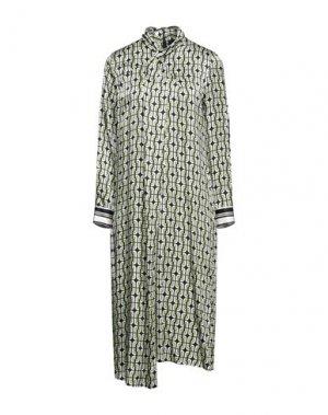 Платье миди EMMA & GAIA. Цвет: кислотно-зеленый