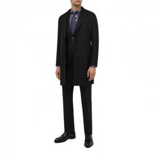 Шерстяной костюм Luciano Barbera. Цвет: коричневый