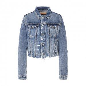 Джинсовая куртка GRLFRND. Цвет: синий