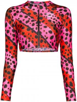 Лиф бикини с леопардовым принтом House of Holland. Цвет: розовый