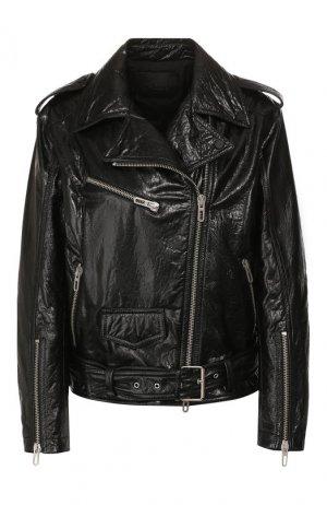 Кожаная куртка DROMe. Цвет: чёрный