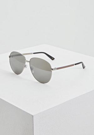 Очки солнцезащитные Gucci GG0138S009. Цвет: серебряный