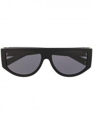 Солнцезащитные очки в массивной оправе Givenchy Eyewear. Цвет: черный