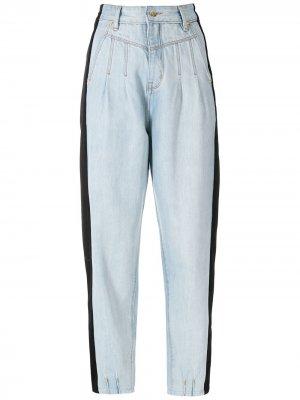 Two-tone denim trousers Amapô. Цвет: синий