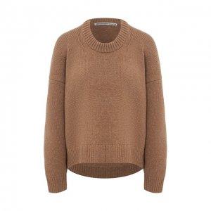 Шерстяной свитер Alexander Wang. Цвет: коричневый