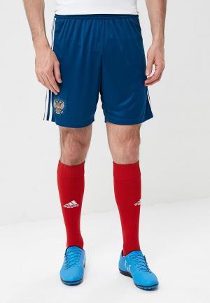 Шорты спортивные adidas RFU A SHO. Цвет: синий