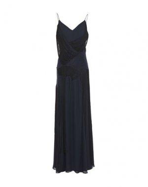 Длинное платье HAUTE HIPPIE. Цвет: темно-синий