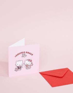 Поздравительная открытка #CoupleGoals Wedding Hello Kitty. Цвет: мульти