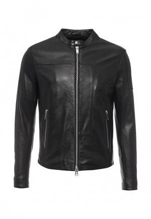 Куртка кожаная Iceberg IC461EMOYU70. Цвет: черный