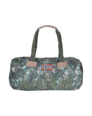 Дорожная сумка NAPAPIJRI. Цвет: зеленый
