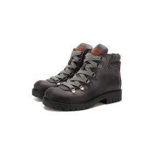 Кожаные ботинки Jarrett. Цвет: серый