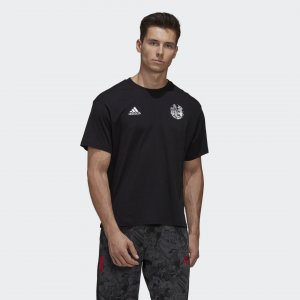 Футболка Captain Tsubasa (Унисекс) Performance adidas. Цвет: черный