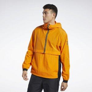 Анорак One Series Running Reebok. Цвет: high vis orange