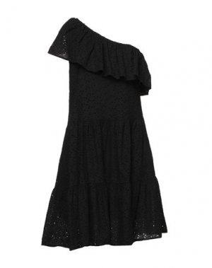 Короткое платье DIXIE. Цвет: черный
