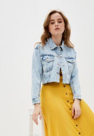 Куртка джинсовая Incity. Цвет: голубой
