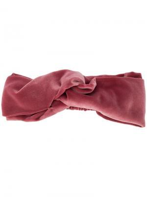 Повязка на голову с узлом Ca&Lou. Цвет: розовый